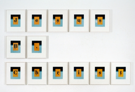 Larry Johnson, Untitled (Your Name Here) [Jesus B. Christ, prototype], 1990