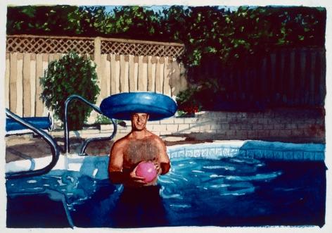 Tim Gardner, Untitled (Brad in pool with pink ball), 1999