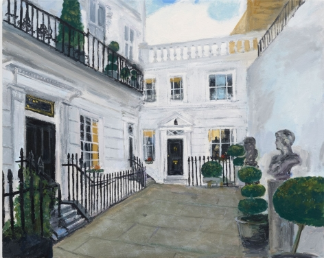 Karen Kilimnik, my secret agent Mews house, London, Mayfair, 2016