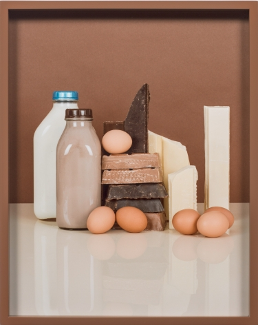 Elad Lassry, Chocolate Bars, Eggs, Milk, 2013