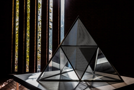Installation view: Dan Graham: Greatest Hits, Red Brick Art Museum, Beijing, 2017