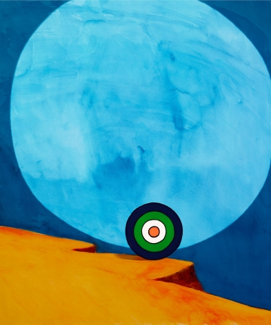 Florian Maier-Aichen, Der Spaziergang (Green, White and Blue), 2011