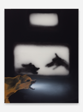 Tala Madani, Dog with Torch, 2018