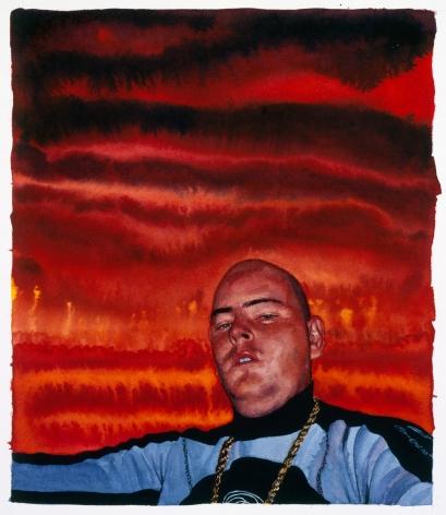 Tim Gardner, Untitled (S Surfing: Gold Chain, Orange Sky), 2002