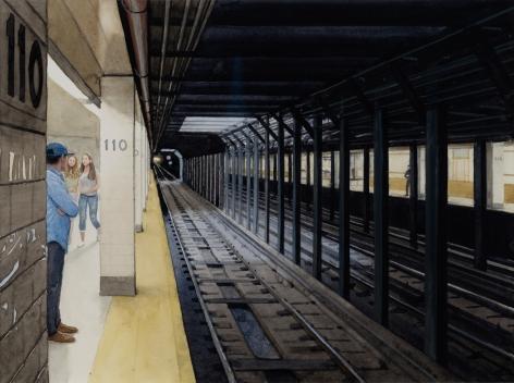 Tim Gardner, Waiting for the Subway, 2018