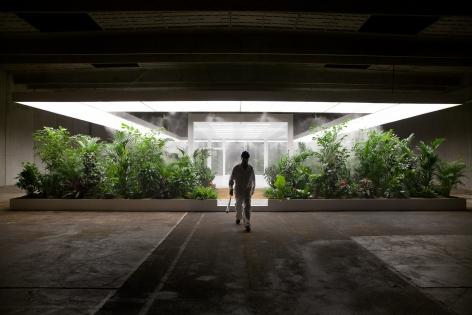 Installation view of Doug Aitken, The Garden 2017.