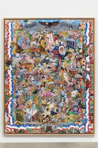 Rob Pruitt, American Quilts 2018: Trump Studio Doodle, Crazy Quilt