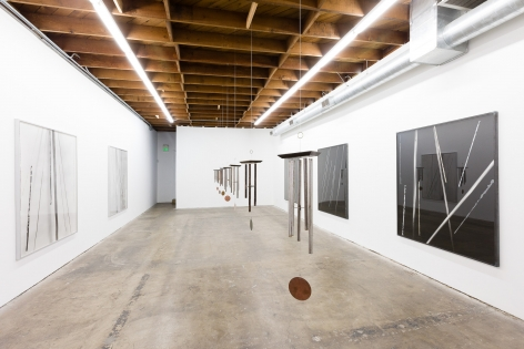 Sam Falls, Installation view: LA><Art, Los Angeles, 2013.