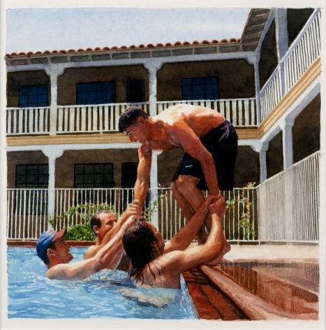 Tim Gardner, Untitled (Nick Being Pulled in Pool), 2002