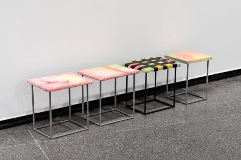 Eva Rothschild, Installation view: Kosmos, Australian Centre For Contemporary Art, Melbourne, 2018