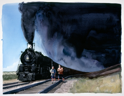 Tim Gardner, Untitled (Nick and Sto with Train), 1999