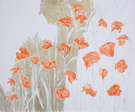 Kristin Oppenheim, Poppies (Study #4), 2010
