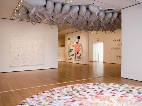 Sue Williams, Installation view: Comic Abstraction: Image-Breaking, Image-Making, MoMA, New York, 2007