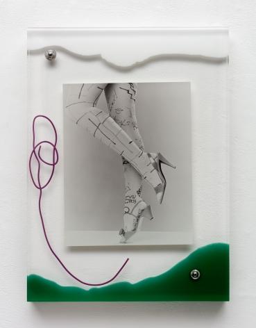 Elad Lassry, Untitled (Legs, Text), 2016