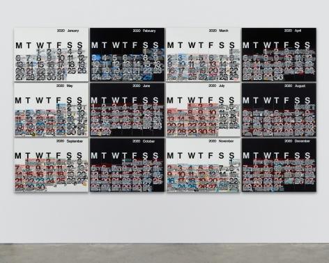Rob Pruitt, Studio Calendar 2020