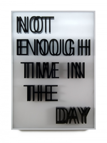 Doug Aitken, NOT ENOUGH TIME IN THE DAY (lightbox), 2013