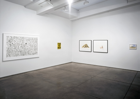 Installation view within hours we would be in the middle of nowhere