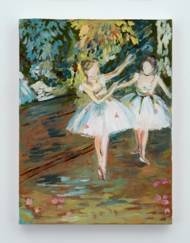 Karen Kilimnik, Two Dancers on a stage, 1874, by Edgar Degas the 2 Flowers, Paris Theater, 2017
