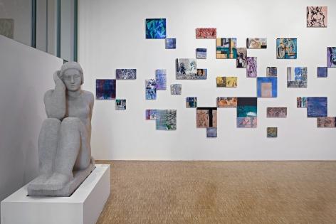 Nick Mauss, Installation view: Illuminated Window, La Triennale di Milano, 2017