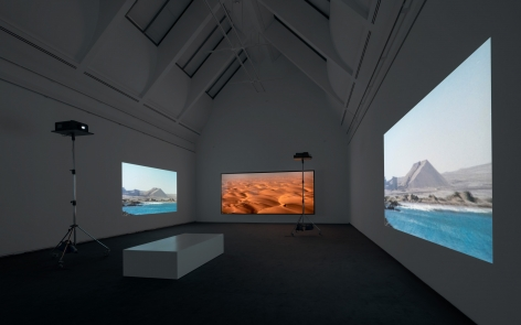 Doug Aitken, diamond sea, 1997, Installation view: Schirn Kunsthalle Frankfurt, 2015