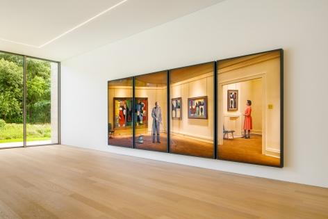 Installation view:Rodney Graham, Vacuuming The Gallery,Voorlinden Museum & Gardens, Wassenaar, 2019, Photo:Bram Vreugdenhil