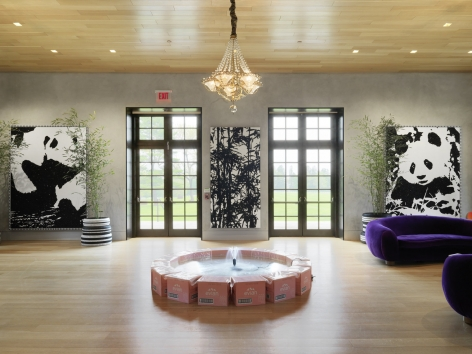 Installation view:Rob Pruitt 50th Birthday Bash, The Brant Foundation Art Study Center, 2015