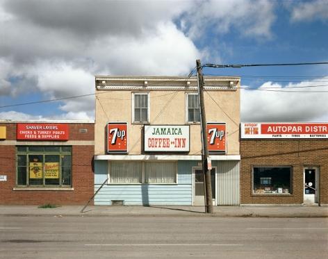 Stephen Shore, Jamaica Coffee Inn, Dewdney Avenue, Regina, Saskatchewan, August 17, 1974