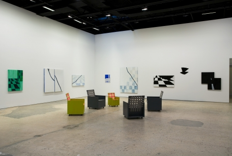 Mary Heilmann, Two-Lane Blacktop, Installation at 303 Gallery, 2009