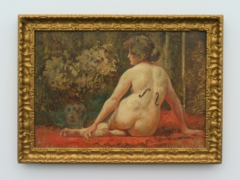 Hans-Peter Feldmann, Nude with Man Ray marks