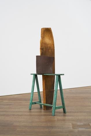 Katinka Bock,A And I,2013, Oak wood, steel, ceramic, bronze, fabric