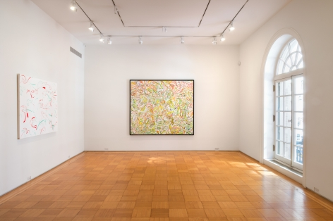 Sue Williams, Installation view: Paintings 1997-98, Skarstedt Gallery, New York, 2018