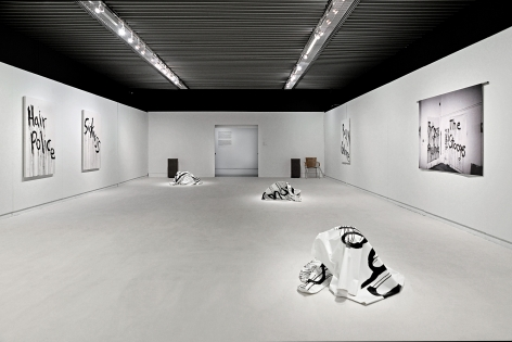 Kim Gordon - Design Office, Installation view: Noise Name Paintings and Sculptures of Rock Bands That Are Broken Up, Benaki Museum, Athens, 2015