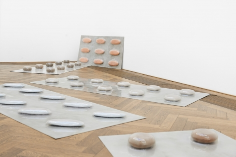Marina Pinsky, Installation view: Dyed Channel, Kunsthalle Basel, 2016