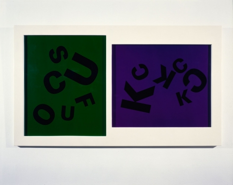 Larry Johnson, Untitled (Fuck, Suck, Cock), 1985