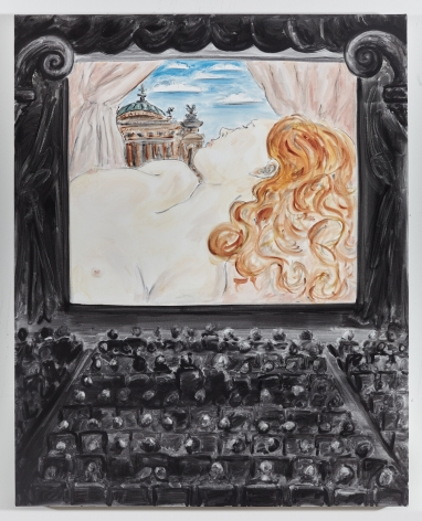 Tanya Merrill, Woman in the Painting Playing at the Cinema