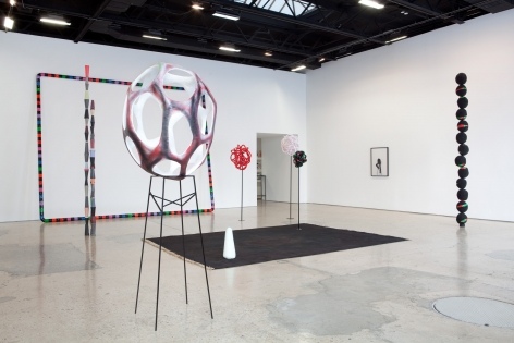 Eva Rothschild, The Heart of the Thousand-Petalled Lotus, Installation at 303 Gallery, 2011