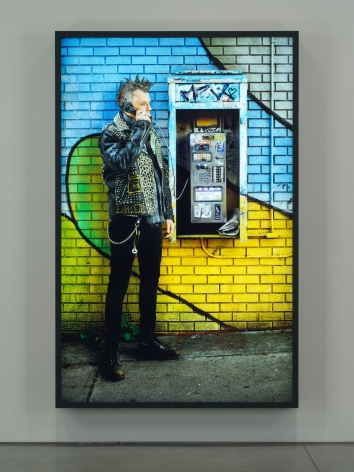 Rodney Graham, Old Punk on Pay Phone, 2012