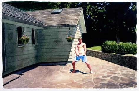 Tim Gardner, Untitled (Vankoughnett with tennis ball), 1999