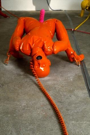 Vito Acconci, Home Entertainment Center, (floor orange male), 1991