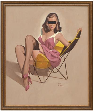 Hans-Peter Feldmann, Girl in a chair