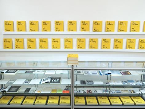 Installation view: 303 inPrint at Printed Matter's New York Art Book Fair, 2019