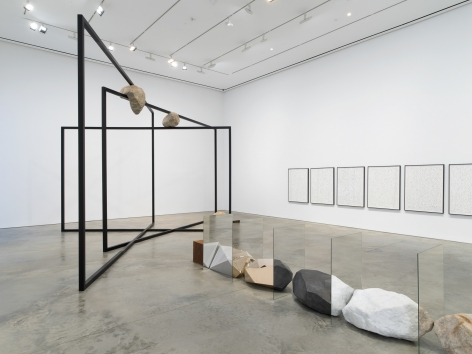 Installation view: Alicja Kwade, ParaParticular, 303 Gallery, New York, 2019