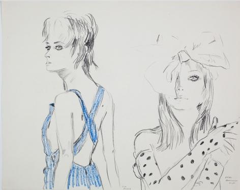Karen Kilimnik, my blue pinafore sundress, 1986