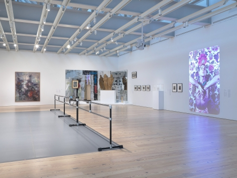Installation view of Nick Mauss: Transmissions, Whitney Museum of American Art, New York, 3/16 - 5/14/2018