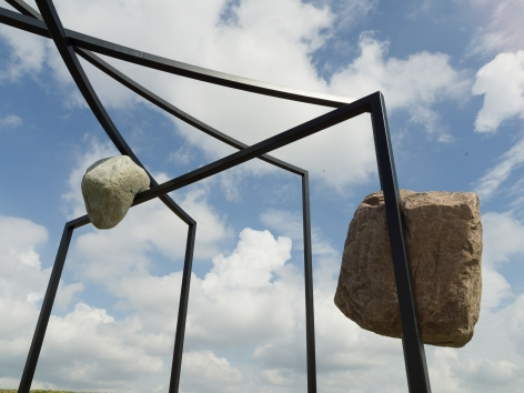 Alicja Kwade,MatterMotion,2020, Installation view:Kausalkonsequenz,Langen Foundation, Neuss, 2020