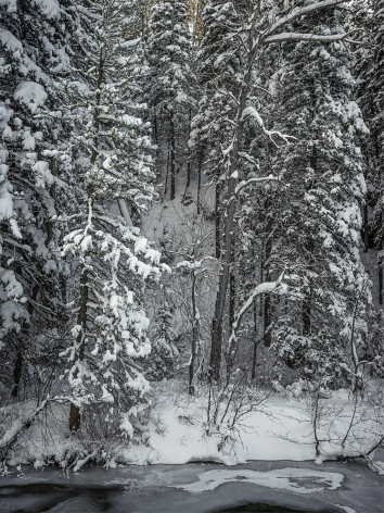 Stephen Shore, Hyalite Canyon, Gallatin County, Montana, December 26, 2017