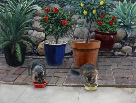 Tim Gardner, Two Cats Eating Breakfast