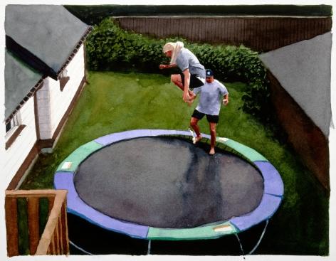 Tim Gardner, Untitled (Sto & Mitch on trampoline), 1999