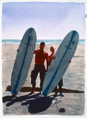 Tim Gardner, Untitled (Matt & S with surfboards: Malibu), 1999