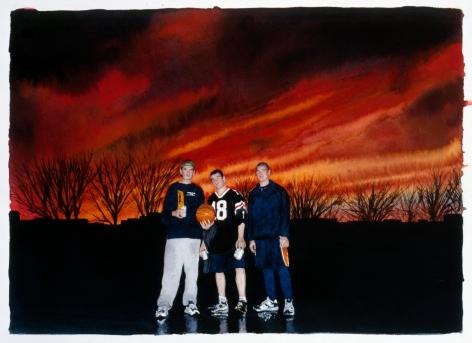 Tim Gardner, Untitled (Red Sky), 2002